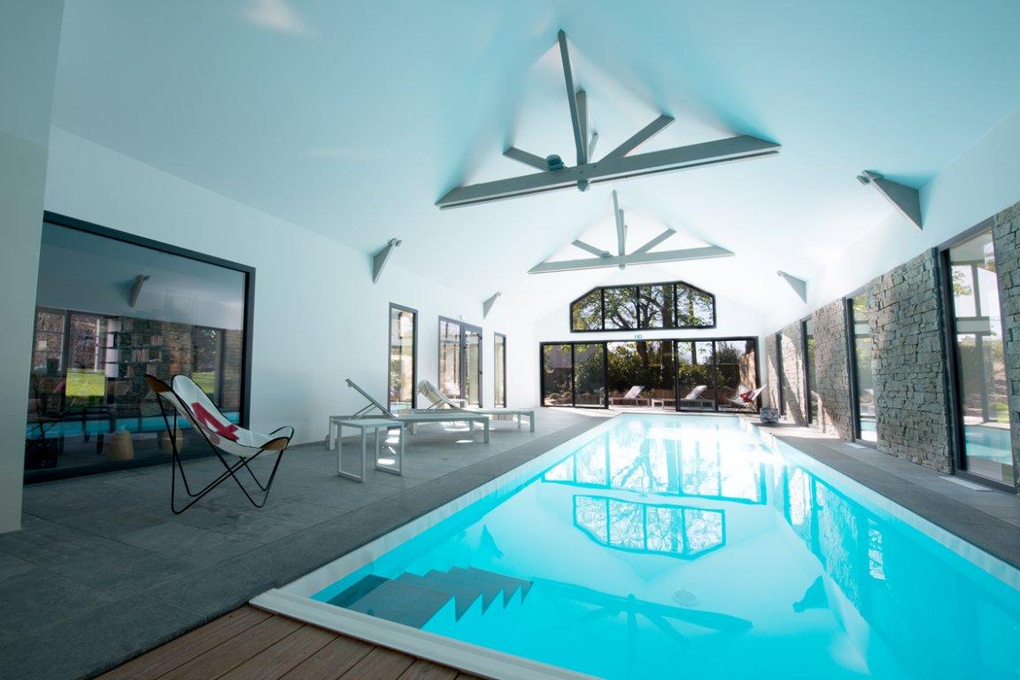 Chambres d 39 h tes avec piscine qu ven 15 personnes v ronique sparfel - Chambre d hote piscine interieure ...