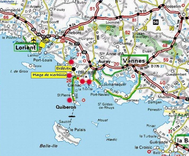 Carte Bretagne Erdeven.Mobile Home Vacances Erdeven Location 6 Personnes Pierrick