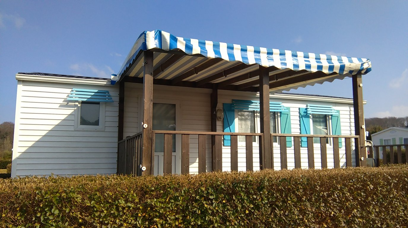 Mobile home vacances avec piscine louannec location 4 for Piscine mobile louer